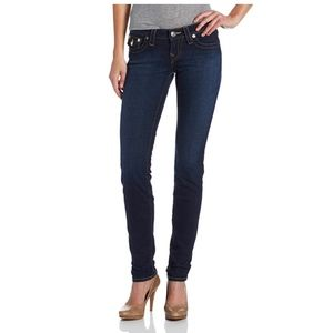 True Religion Julie Skinny Jean Back Flap Lonestar